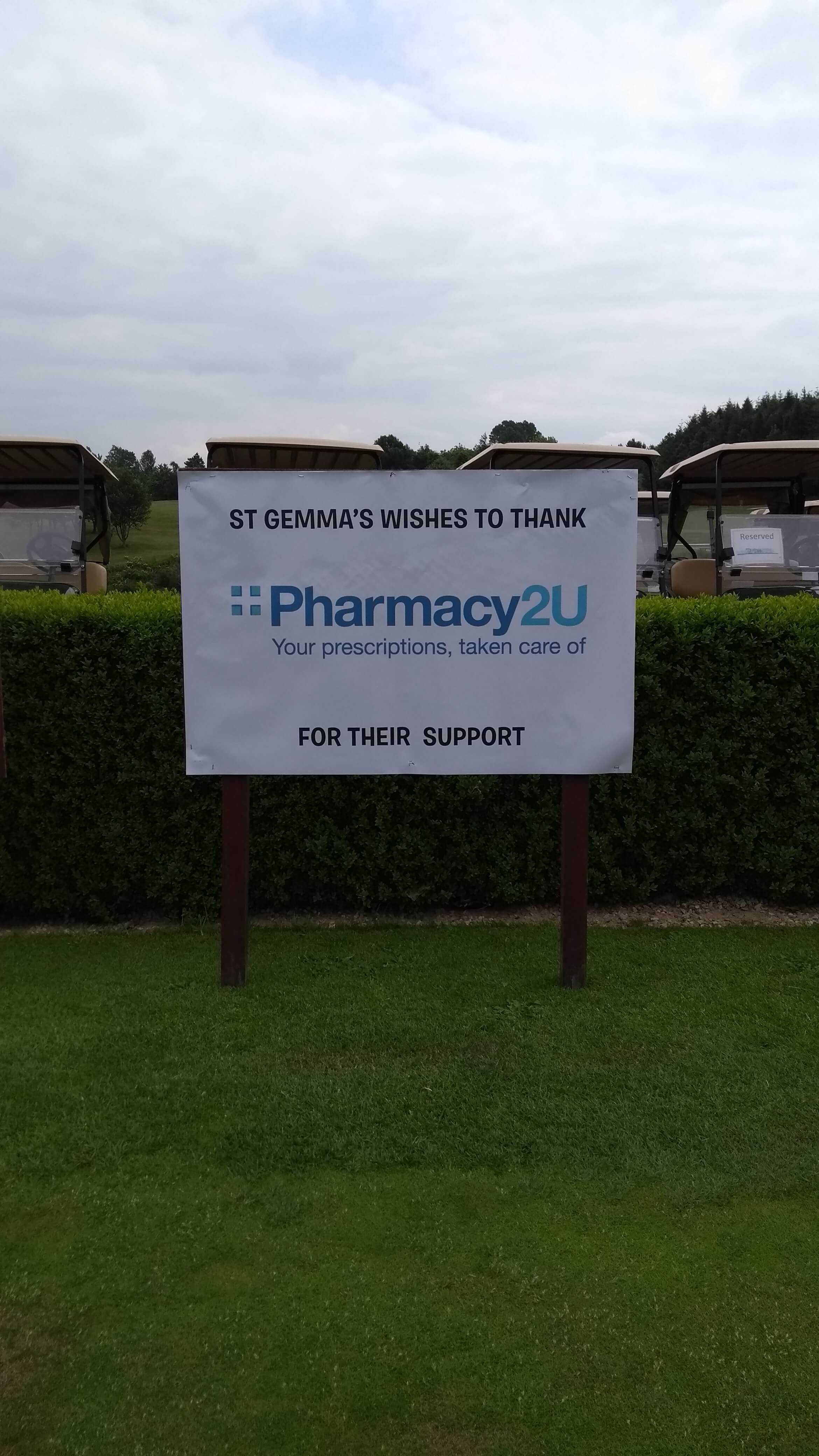 Pharmacy2U Hole Sponsor